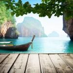 bigstock-Adaman-sea-and-wooden-boat-in-46625953